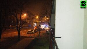 Nocny pożar przy Jagiellońskiej. Spłonęły regały w sklepie