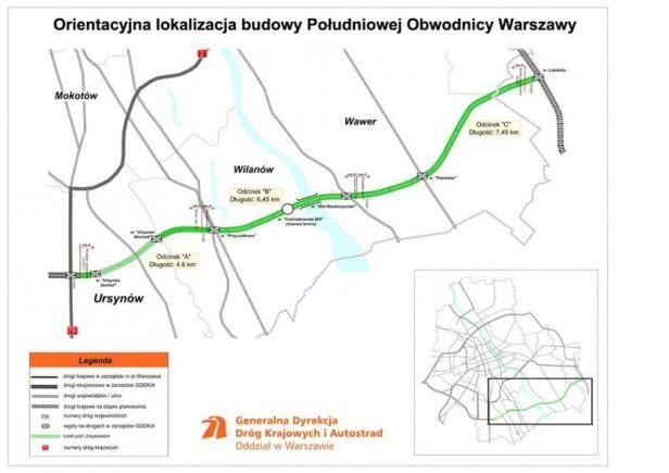 Południowa Obwodnica Warszawy GDDKiA