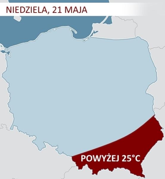 Gorące powietrze nad Polską w niedzielę