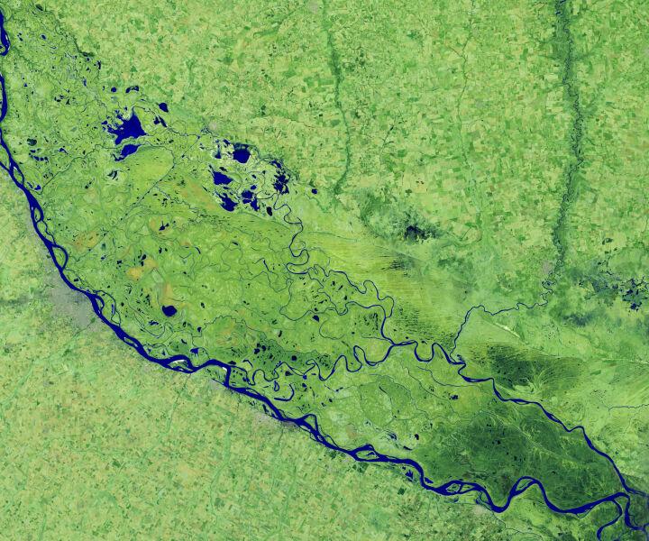 Wyschnięta rzeka Parana (earthobservatory.nasa.gov)